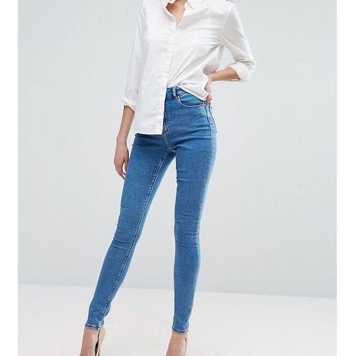 ASOS DESIGN Tall Ridley skinny jeansin lily pretty mid wash blue - Blue, kolor niebieski