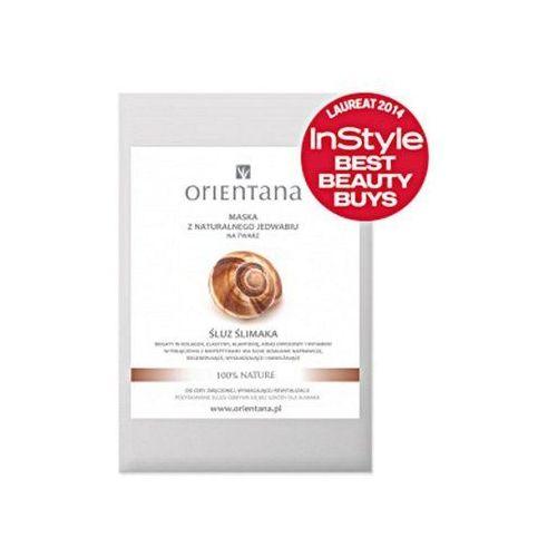 Orientana Maska z naturalnego jedwabiu śluz ślimaka  - śluz ślimaka (5902596416690)