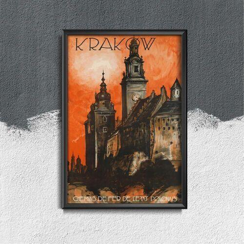 Vintageposteria.pl Plakat do pokoju plakat do pokoju krakow chemins de fer de l'etat polonais