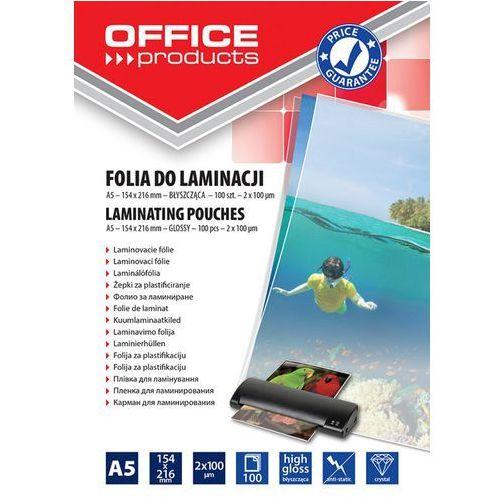 Folia do laminacji Office Products A5 154x216 mm błyszcząca 100 sztuk transparentna - PBS Connect Polska (5901503679128)