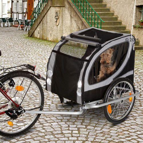 Przyczepka rowerowa no limit doggy liner paris de luxe - dł. x szer. x wys.: 136 x 92 x 93 cm / do 50 kg marki Karlie