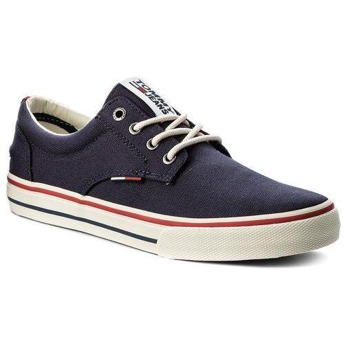 Tenisówki - tommy jeans textile sneaker em0em00001 ink 006 marki Tommy jeans
