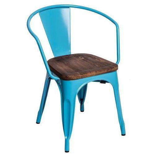 D2.design Krzesło paris arms wood sosna - niebieski (5902385705424)