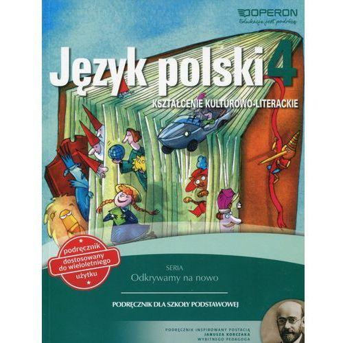Odkrywamy na nowo Język polski 4 Podręcznik wieloletni Kształcenie kulturowo-literackie - Wysyłka od 3,99 - porównuj ceny z wysyłką, Składanek Małgorzata