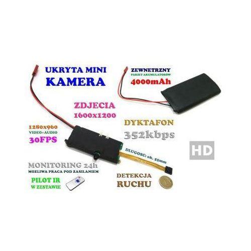 Mikro-Kamera HD do Ukrycia/Zabudowy, Nagrywająca Obraz i Dźwięk (7-dni Pracy!) + Detekcja Ruchu +..., 5907793391290