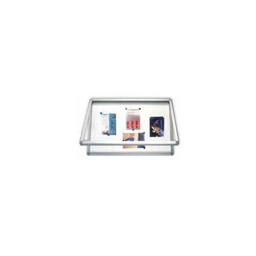 Gablota z oświetleniem led suchościeralno-magnetyczna 90x60 z drzwiczkami z pleksi marki 2x3