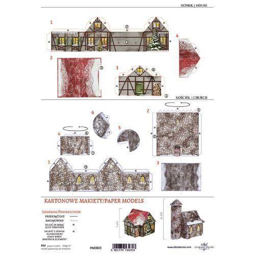 Kartonowa makieta - domek i kamienny kościołek - 03 marki Itdcollection