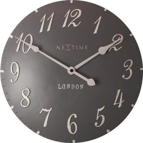 Zegar ścienny London Arabic brązowoszary, kolor brązowy