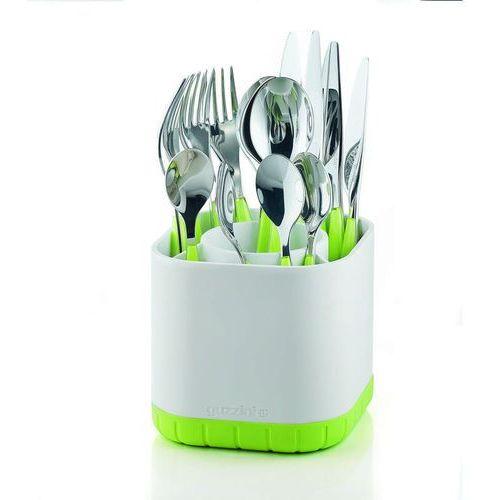 Guzzini Ociekacz na sztućce kitchen active design biało-zielony (8008392259169)