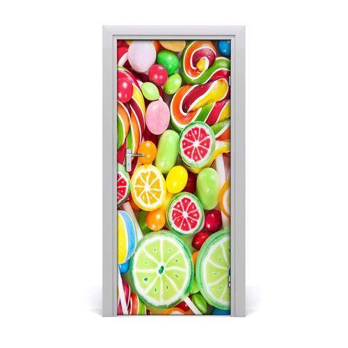 Naklejka na drzwi samoprzylepna Kolorowe cukierki