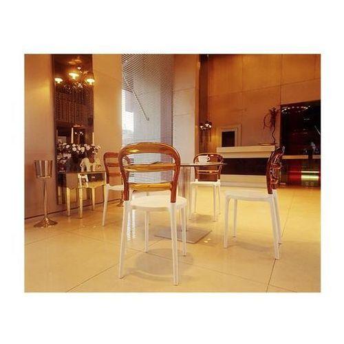Krzesło Miss Bibi - biały ||pomarańczowy (8697443551088)