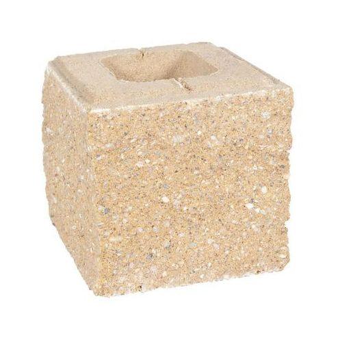 Pustak ścienno-cokołowy 20 x 19.5 x 19 cm betonowy trzystronnie łupany SKAŁA LUBUSKA ZIEL-BRUK (5901171177056)