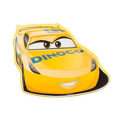 Disney Naklejka piankowa dla dzieci cars żółta