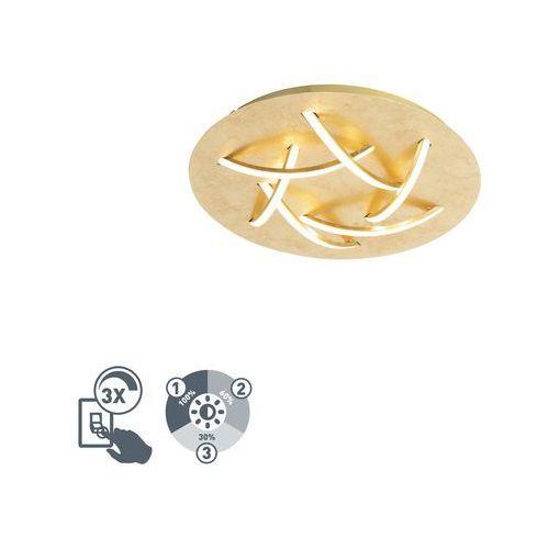 Złota lampa sufitowa w stylu art deco z diodami led - delphina marki Trio leuchten