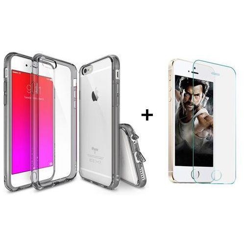 Zestaw | Rearth Ringke Fusion Smoke Black + Szkło ochronne | Etui dla Apple iPhone 6 Plus / 6S Plus