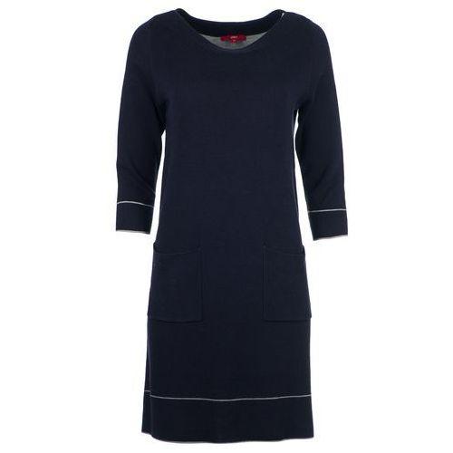 s.Oliver sukienka damska 36 ciemnoniebieski, kolor niebieski