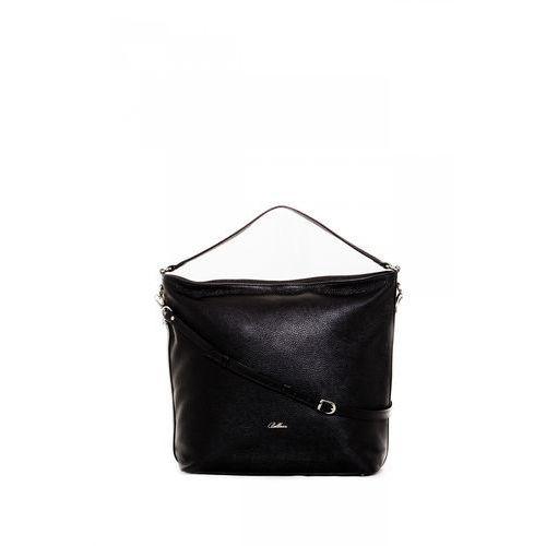 Franco bellucci Pojemna torba miejska w czarnym kolorze -