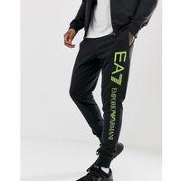 EA7 logo leg sweat joggers in black - Black, kolor czarny