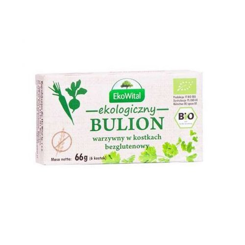 Bulion warzywny w kostkach BEZGLUTENOWY BIO 66 g