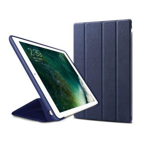 Etui Alogy Smart Case Apple iPad 2 3 4 silikon Granatowe + Szkło - Granatowy, kolor niebieski