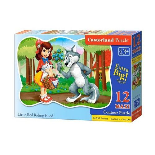 Puzzle 12 maxi konturowe Little Red Riding Hood/ B-120185 (5904438120185)