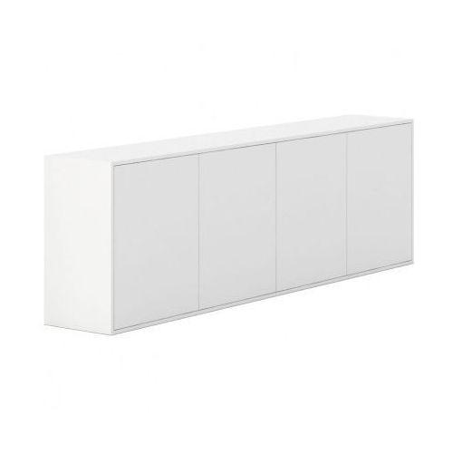 Plan Szafka z drzwiami długa white layers, białe drzwi