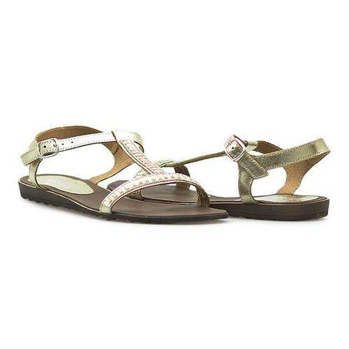 Sandały Venezia 2453 LAM PLAT Złote
