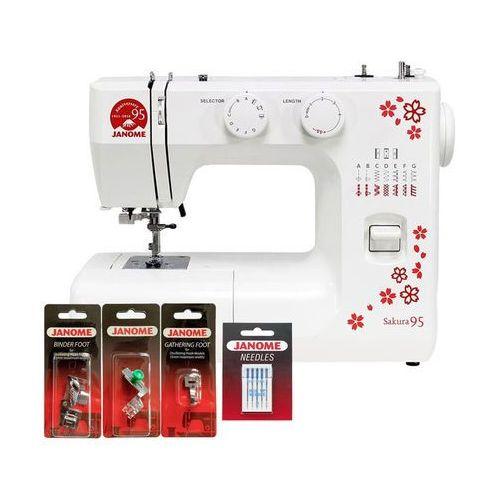 Maszyna do szycia Janome Sakura 95 + Stopki + Igły + Gwarancja 5 lat