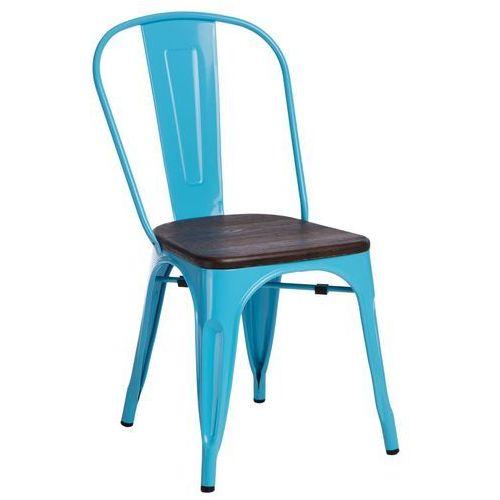 Krzesło Paris Wood nieb. sosna szczot. MODERN HOUSE bogata chata, 94434