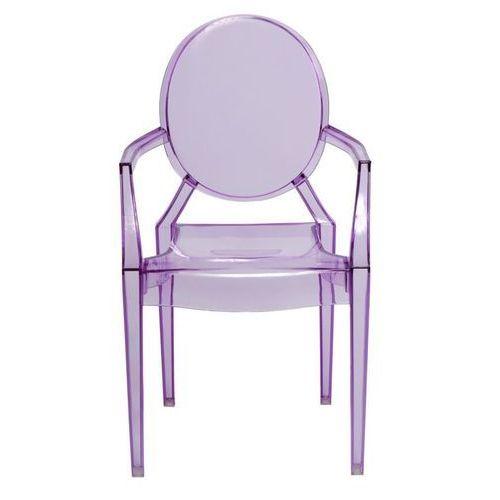 Krzesło dziecięce Mini Royal Junior inspirowane Louis Ghost - fioletowy   transparentny