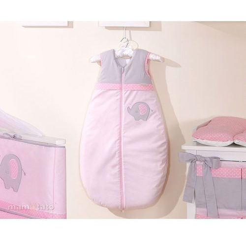 śpiworek do 18 m-ca haftowany słonik różowy marki Mamo-tato