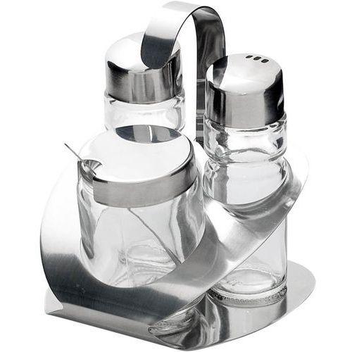 Stalgast Zestaw 3-elementowy do przypraw (sól, pieprz, pojemnik) | , 362006