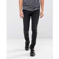 Cheap Monday Tight Skinny Jeans Twisted Black Deconstructed - Black, jeansy