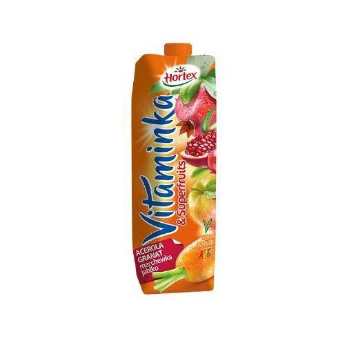 Hortex 1l vitaminka superfruits acerola z granatem marchewką i jabłkiem sok | darmowa dostawa od 150 zł! (5900500030222)