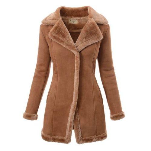 Damski zimowy płaszcz