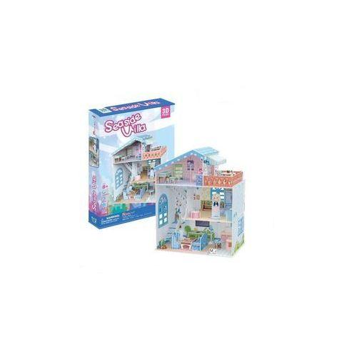 Puzzle 3d seaside villa domek dla lalek marki Cubicfun