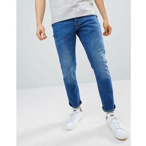 slim jeans in mid wash blue - blue marki River island