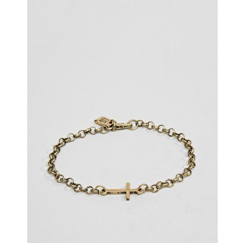 gold chain bracelet with cross - gold marki Icon brand