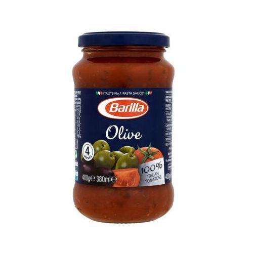 400g olive sos pomidorowy z zielonymi i czarnymi oliwkami do makaronu marki Barilla
