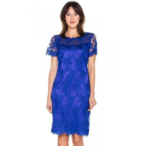 Sukienka z chabrowej koronki - POZA, 1 rozmiar
