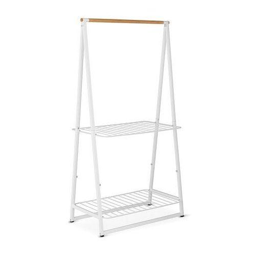 Brabantia - wieszak na ubrania z półkami, 99,50 cm, biały - biały