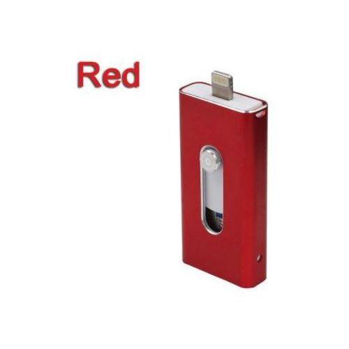 E-webmarket Micro usb + otg usb dla iphona (czerwony, 64gb) - czerwony \ 64 gb