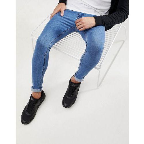 super skinny jeans in blue - blue marki Bershka