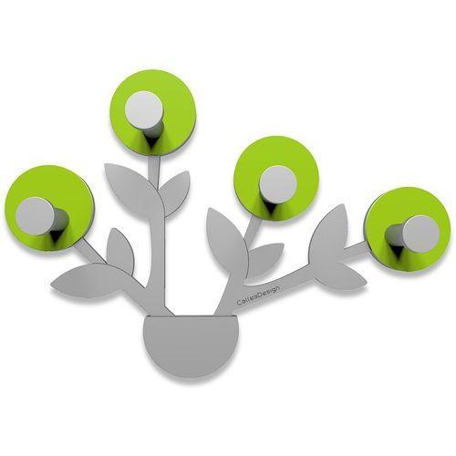 Wieszak ścienny Francine CalleaDesign zielony, aluminium (13-013-76)