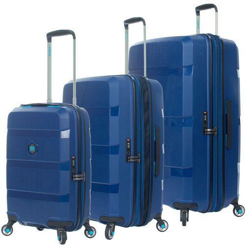 Bg berlin zip2 zestaw walizek / komplet / walizki na 4 kółkach / jazz blue - jazz blue