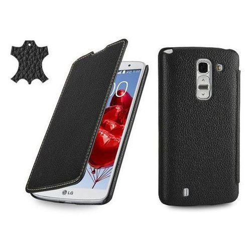 Skórzane etui z klapką Stilgut Book Case - czarne - LG G Pro 2
