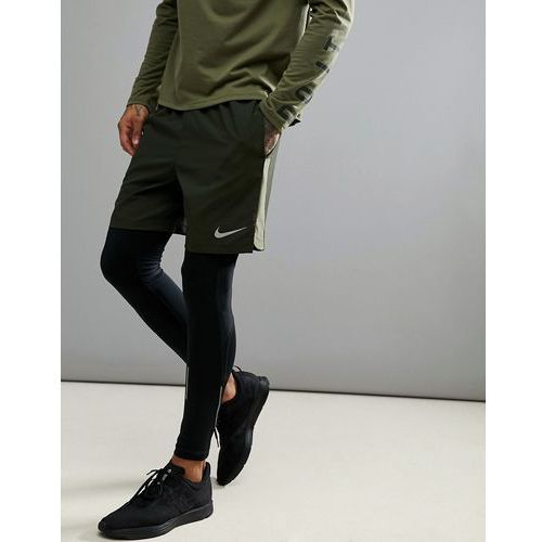 flex challenger 7 inch shorts in khaki 856838-355 - green marki Nike running