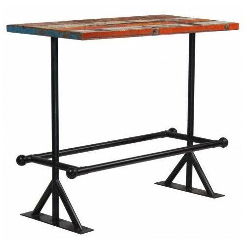Kolorowy, drewniany stolik barowy – Sidden 3X