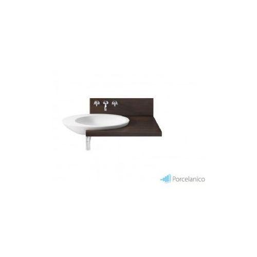 ROCA ELIPTIC Blat + ścianka do umywalki Eliptic A327426000 i baterii umywalkowej 3-otworowej ścienne, A856185609