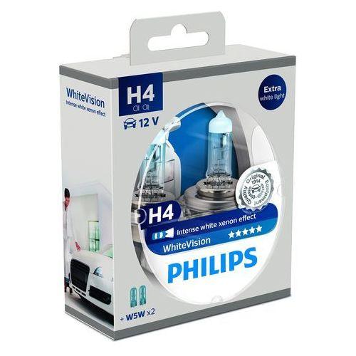 OKAZJA - Philips WhiteVision Xenon-Effekt H4 żarówka samochodowa 12342WHVSM, 2 sztuki w zestawie (8711500788863)